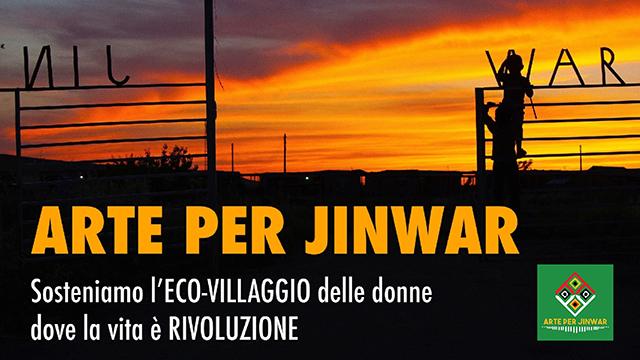 Arte para Jinwar. Apoyamos la ecoaldea de las mujeres, donde la vida es una revolución