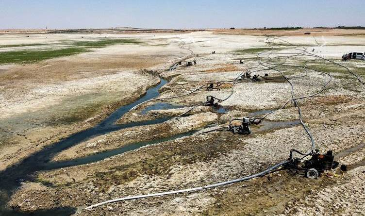 Desierto: la desecación del Éufrates amenaza con un desastre en Siria