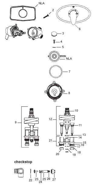 Shower and Mixing Valve Parts: Leonard