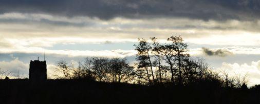 Sky, church, tree