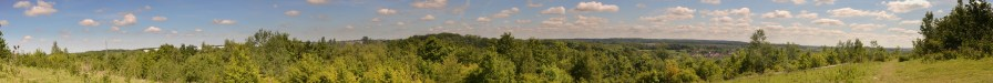 Panorama from the Woodlands