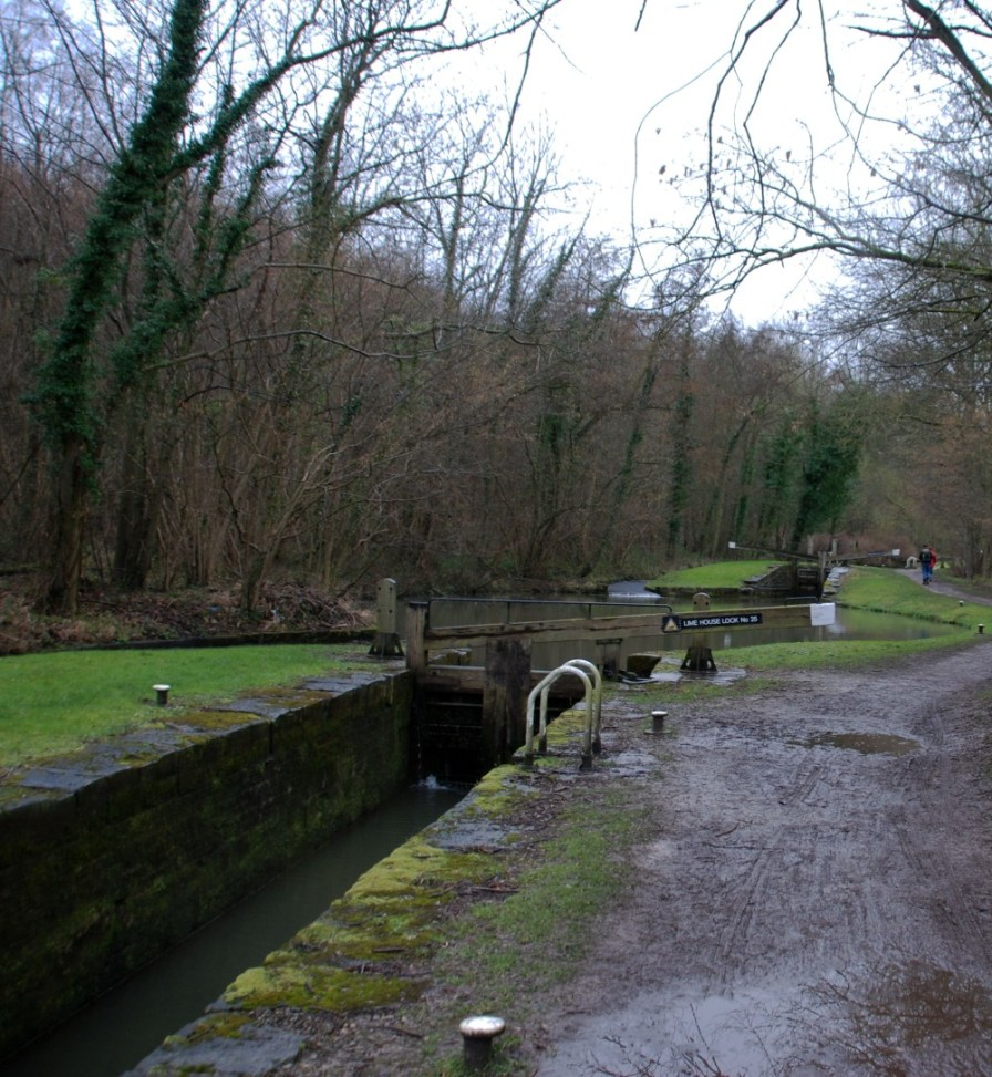 Lime House Lock with Thorpe Bottom in the distance.