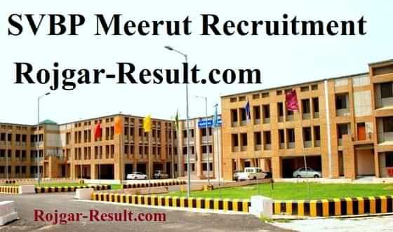 SVBP Meerut Recruitment SVBP Meerut Vacancy SVBP Meerut Bharti