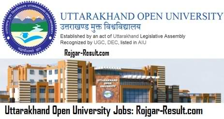 UOU Recruitment UOU Haldwani Govt Jobs