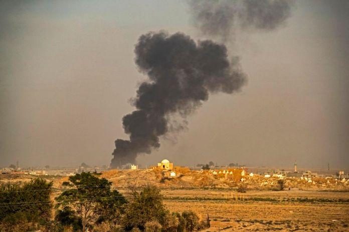 Deux positions des forces du régime syrien ciblées par l'armée turque à Tall Tamr