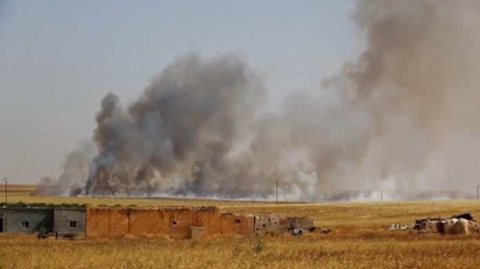 Rojava : L'État turc incendie les champs agricoles
