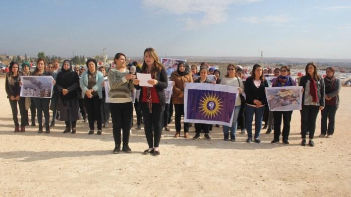 À l'approche de la Journée internationale pour l'élimination de la violence à l'égard des femmes, le Conseil des femmes d'Afrin a condamné les crimes commis par la Turquie.