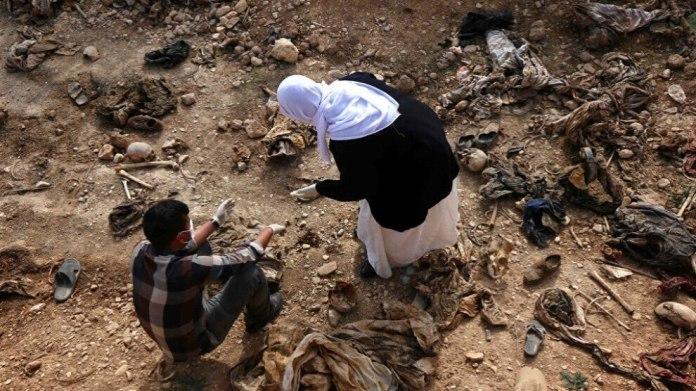 Les corps de 11 personnes tuées lors du génocide perpétré par l'EI en 2014 contre les Yézidis de Shengal (Sinjar) ont été découverts dans une fosse commune.