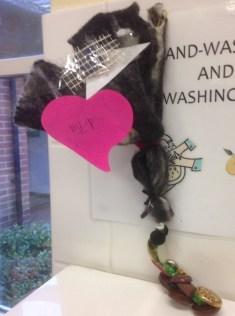 Stingray inspired creature living in the soap dispenser