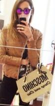 Sunglasses //Spektre Jacket// Gold Bunny Bag // Moschino