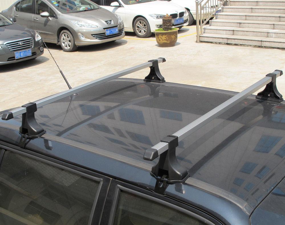 2 PCS 48u2033 Aluminum Car Top Cross Bar Crossbar Roof Rack For Cargo Luggage