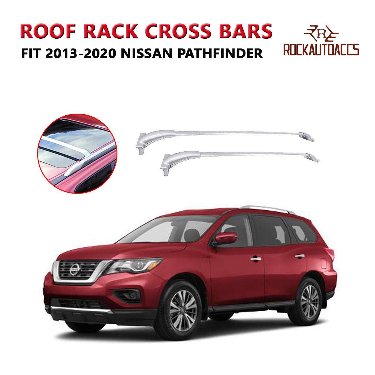Fits 2009-2015 Honda Pilot Black Aluminum Roof Rack Side Rail Luggage Cross Bar
