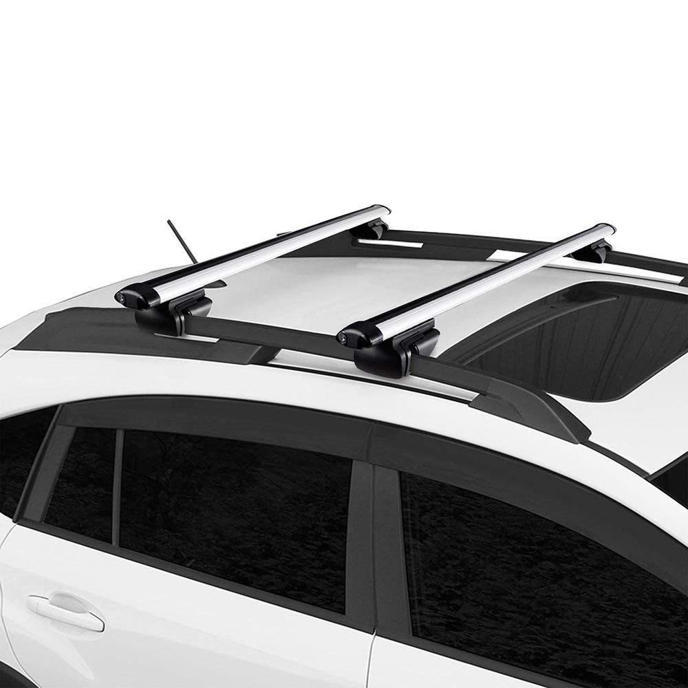 eb16a424f9f3 Universal Roof Rack Side Rails Cross Bar Cargo Carrier with Anti-theft Lock  System extendable up to 48″ SUV with Raise Side Rail Jeep Cherokee Jeep ...