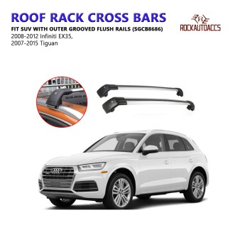 Size : For Audi Q7 2010 Mmhot Aluminum Alloy Roof Rack Cross Bar Roof Cargo Bars Lockable Anti Theft Aero Dynamic Car Roof Bars Compatible With Q7 2010-19