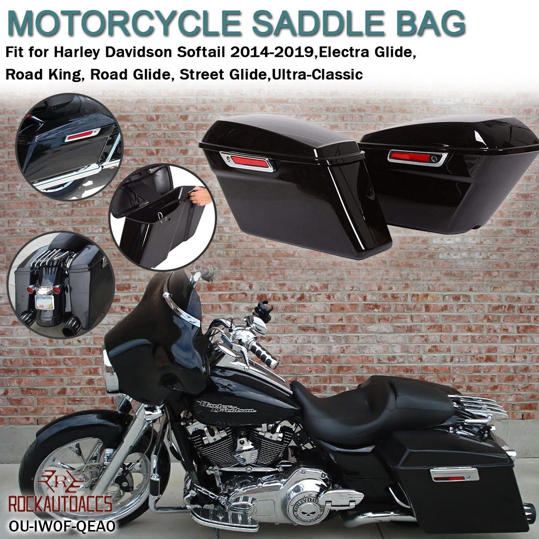4 Point Vivid Black Docking Hardware Fit for Harley Electra Glide 2014-2019