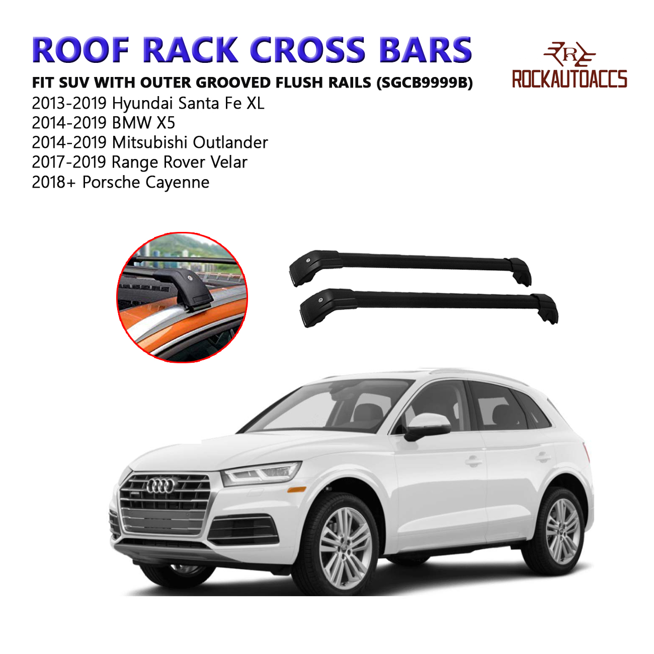 To Fit BMW X5 X3 5 7 Series Wide Alloy Roof Rack Rail Cross Bars T Bolts