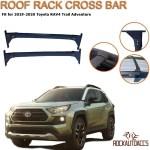 Rokiotoex Roof Rack Crossbars Side Rail Cross Bar Fits 2019 2020 Toyota Rav4 Trail Mounted On Adventure Factory Raised Roof Rails Premium Aluminum Black Rokiotoex