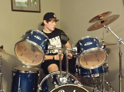 Kyle on Drums on Christmas 2013