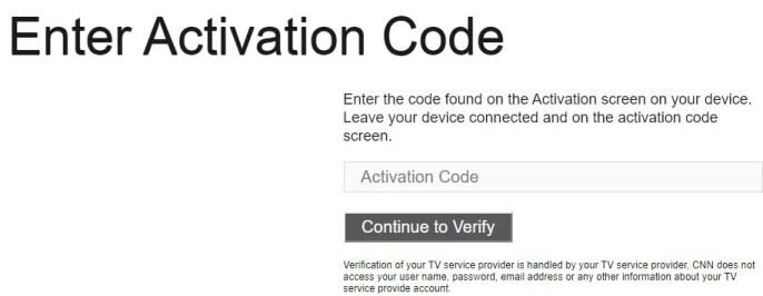 Enter Activation Code