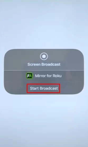 ZWIFT ON ROKU - start broadcast