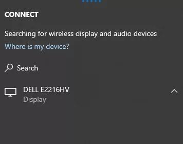 select device - SCREEN MIRRORING ON ROKU