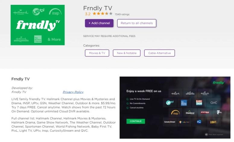 FRNDLY TV ON ROKU
