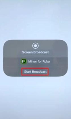 Start broadcast - SHOWBOX ON ROKU