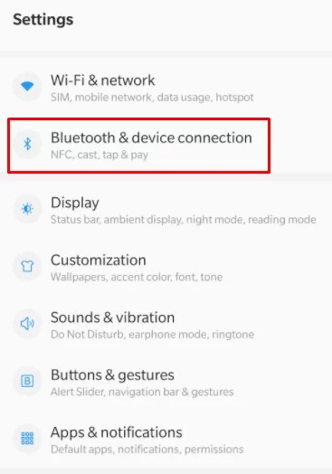 Device connection
