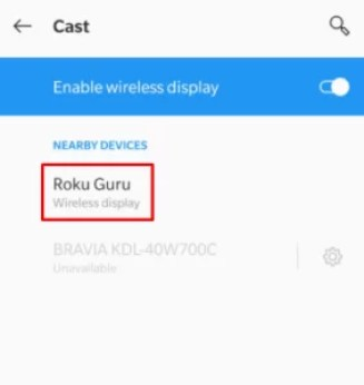 cast -ACC Network on Roku