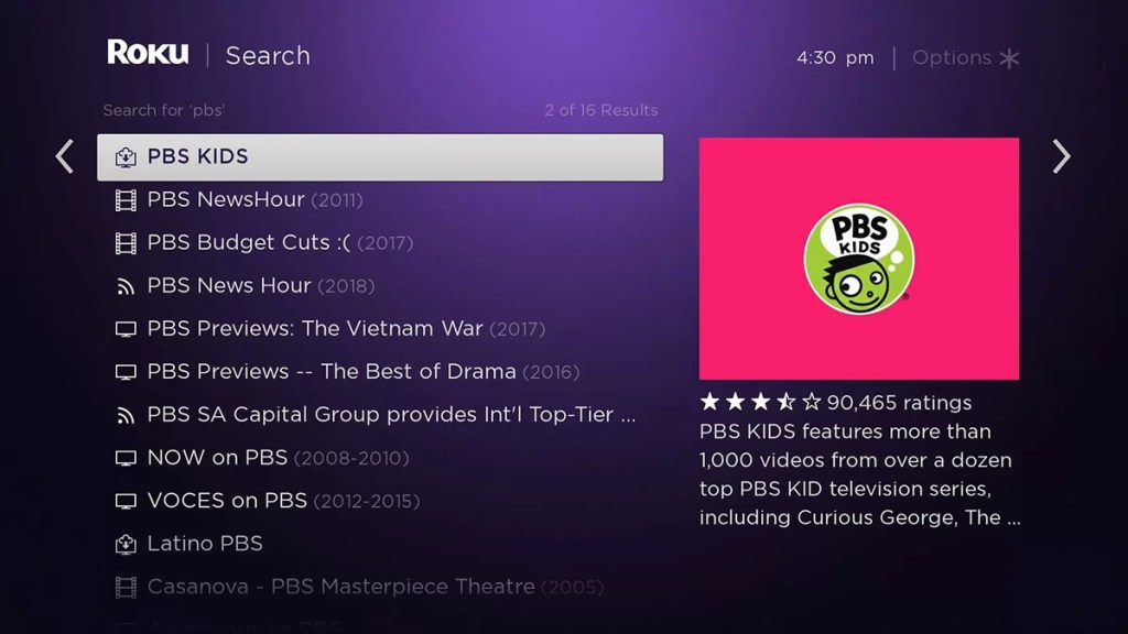 PBS Kids on Roku