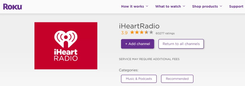 iHeart Radio on Roku