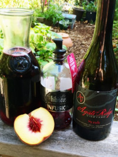 rokz Hibiscus infusion with Agate Ridge Syrah