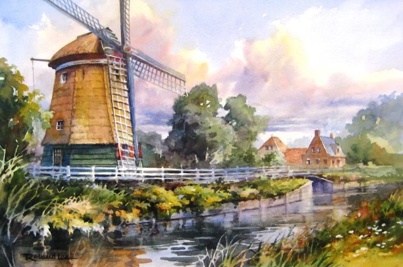 Windmill In Edam Holland Roland Lee