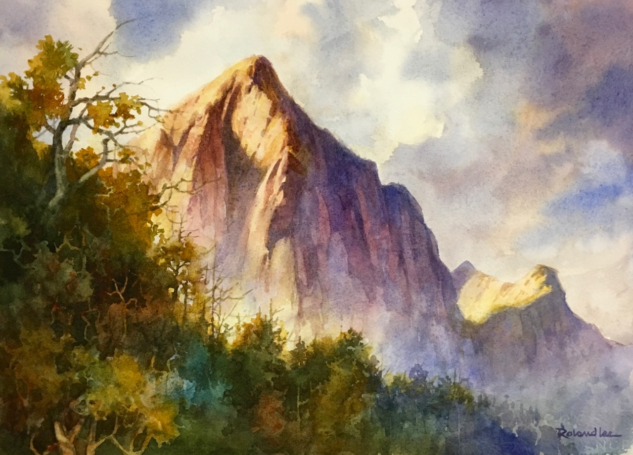 Misty Morning Zion  Roland Lee