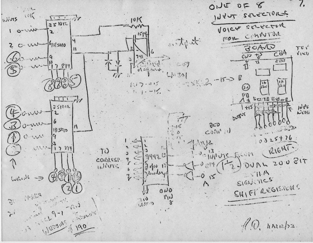 Original Sequencer Shematics Ttl Logic 07 Roland Mc