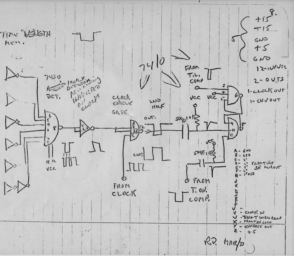 Original Sequencer Shematics Ttl Logic 11 Roland Mc