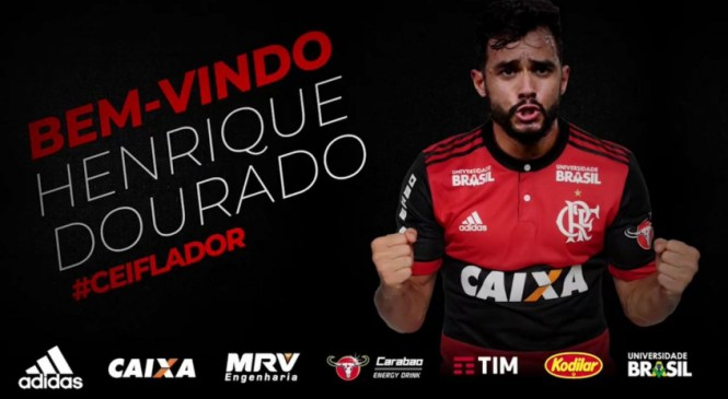 Ceifador na área! Flamengo anuncia Henrique Dourado como reforço