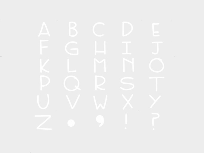 This is the first 53 font I made, and one of my first ideas on Mix!