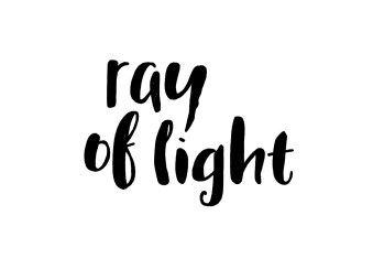 Here I wrote Ray of Light using the letters from this font.