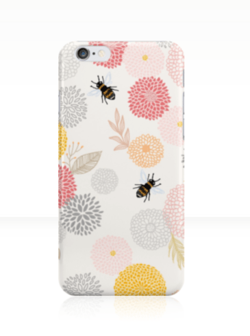 The phone case is available for iPhone 4/4S, 5/5C/5S, and 6/6S. It is also available for Samsung Galaxy S3, S4, and S5. http://bit.ly/springtimephonecase