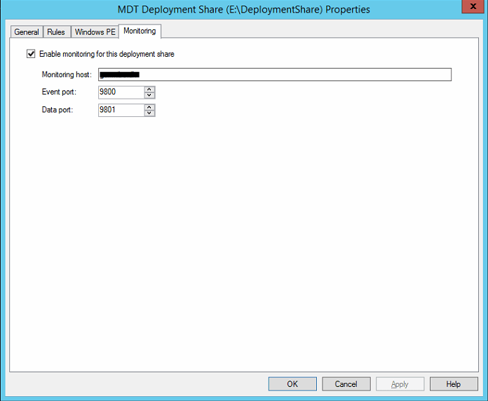 Enable MDT monitoring |