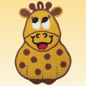 Häkel Topflappen Giraffe Lina