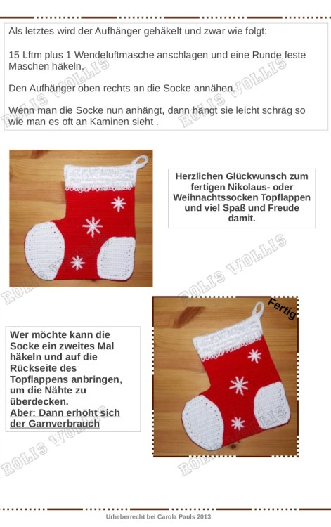 Nikolaus oder Weihnachtssocke-5