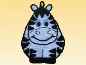 Topflappen Häkel Topflappen Zebra Zeppo Tier