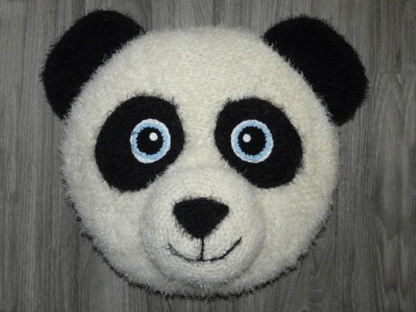Amigurumis Flauschiges Panda Kissen Amigurumi