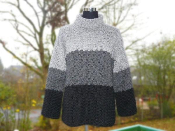 Bekleidung Flausch Häkel Pullover