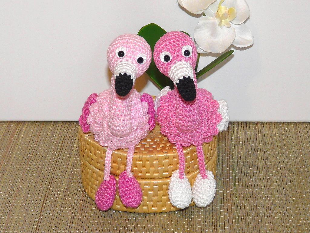 Dinegurumi - Offizieller Shop - Flamingos - Häkelanleitung | 768x1024