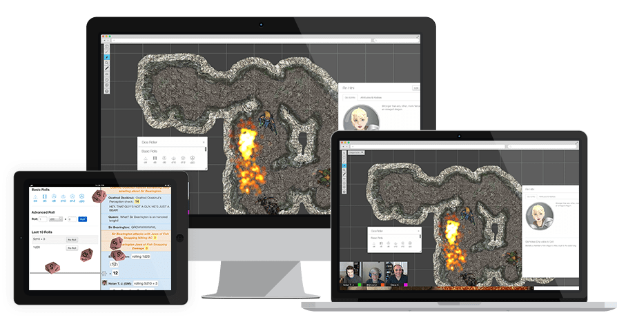 roll20 online virtual tabletop