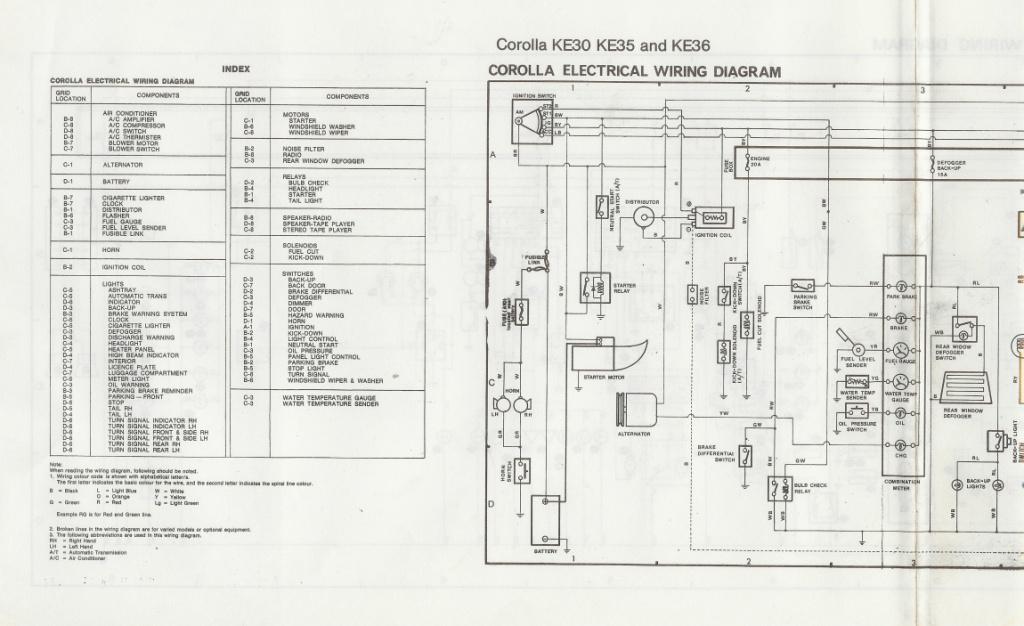 KE70 WIRING DIAGRAM - Auto Electrical Wiring Diagram on