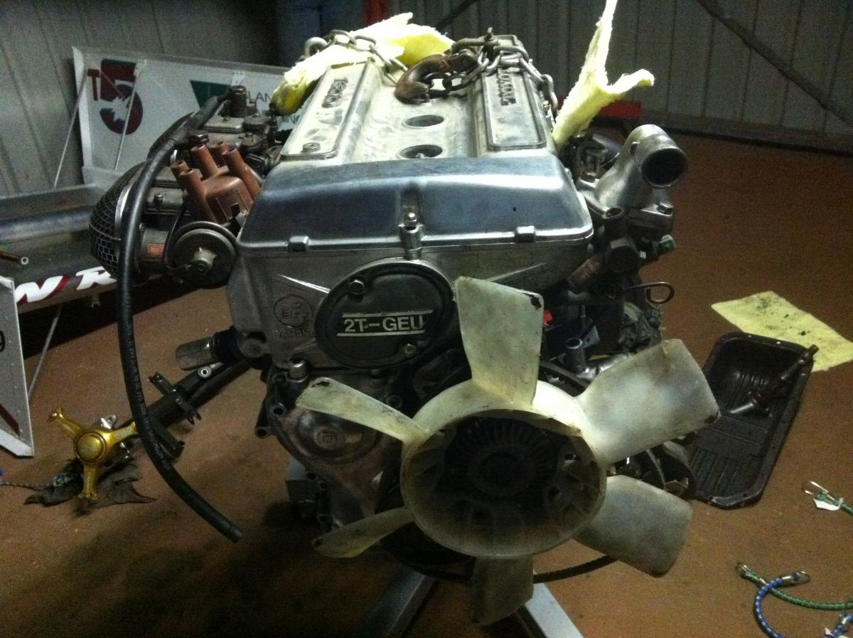 hight resolution of toyota 2tg twincam 1600cc motor w50 5 speed gearbox extractors toyota car 1970 s